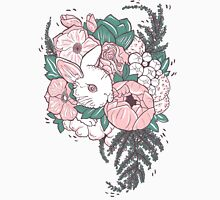 Rabbit in flower bouquet Unisex T-Shirt
