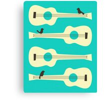 Birds On Guitar Strings Canvas Print