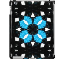 Pattern 74: High-tech design with black and blue shapes iPad Case/Skin
