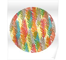 Flame Feathers Tile print Poster