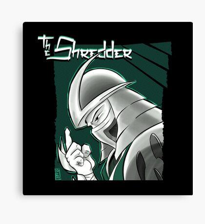 The Shredder - Technodrome Control-screen Blue-Green   Canvas Print