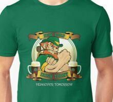 St Patrick's Day - New Born Irish Today Hungover Tomorrow Unisex T-Shirt
