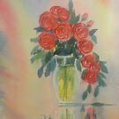 Red Roses for my Valentine by Glenn  Marshall