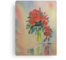 Red Roses for my Valentine Canvas Print