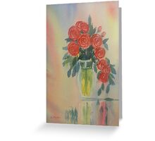 Red Roses for my Valentine Greeting Card