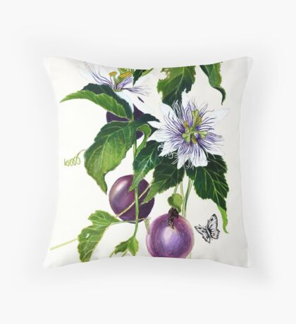 Passionfruit  Throw Pillow
