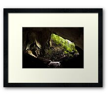 Deer cave gunung mulu national park Framed Print