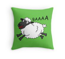 Happy Sheep Throw Pillow