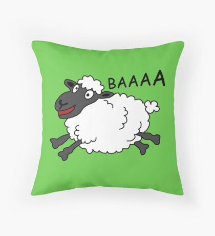 Happy Sheep Throw Pillow