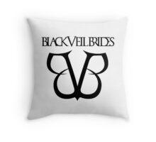 black veil brides black hoodies logo Throw Pillow