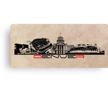 Denver skyline city Canvas Print