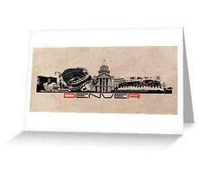 Denver skyline city Greeting Card