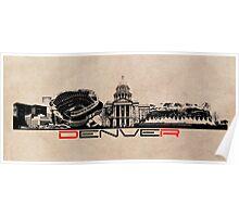 Denver skyline city Poster