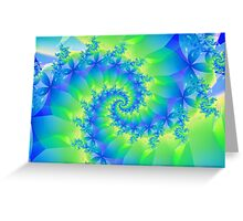 Psychedelic Colorful Spiral Fractal Greeting Card