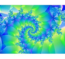 Psychedelic Colorful Spiral Fractal Photographic Print