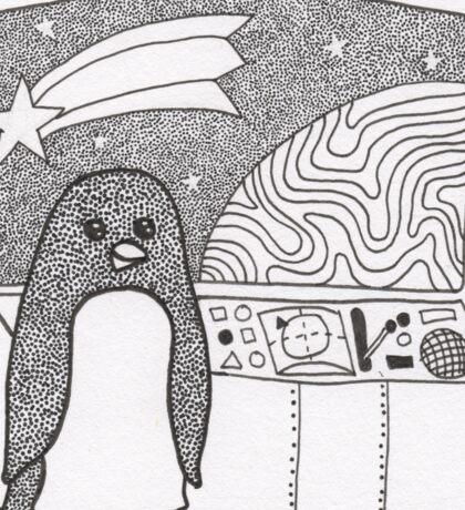 Space Penguin Sticker