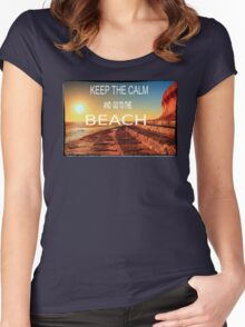 KEEP THE CALM Women's Fitted Scoop T-Shirt