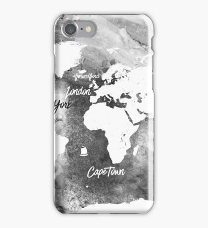 The world's most beautiful ports bw iPhone Case/Skin