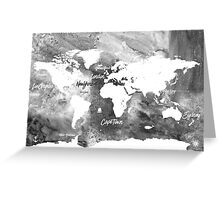 The world's most beautiful ports bw Greeting Card