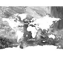 The world's most beautiful ports bw Photographic Print