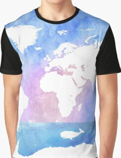Ocean, boat, map, whale Graphic T-Shirt