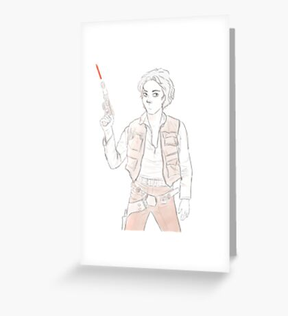 Han Winchester - Sam Solo Greeting Card