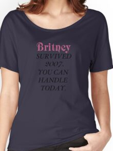 Britney Survived, Britney. Women's Relaxed Fit T-Shirt