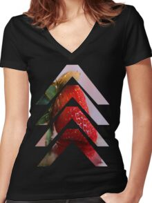 MORANGUITO Women's Fitted V-Neck T-Shirt