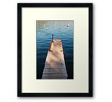Boardwalk in Bakar Harbour Framed Print