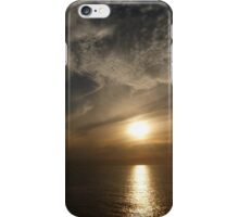 sunset with some clouds II - puesta del sol con unos nubes iPhone Case/Skin