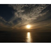 sunset with some clouds II - puesta del sol con unos nubes Photographic Print