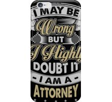 ATTORNEY COVERS iPhone Case/Skin