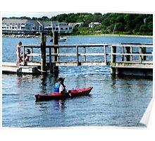 Kayaking At Bristol RI Poster