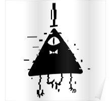 Bill Cipher static black Poster