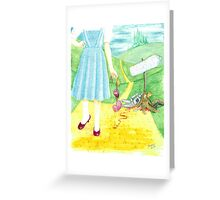 Dorothy returning to Kansas with some souvenirs... Greeting Card
