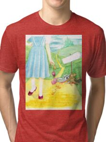 Dorothy returning to Kansas with some souvenirs... Tri-blend T-Shirt