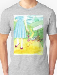 Dorothy returning to Kansas with some souvenirs... Unisex T-Shirt