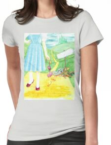 Dorothy returning to Kansas with some souvenirs... Womens Fitted T-Shirt