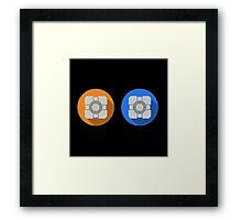 Cube portal Framed Print