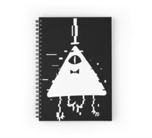Bill Cipher static white Spiral Notebook