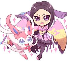 Valerie and Sylveon by quantumjinx