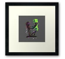 Creeper and Enderman, Minecraft Framed Print