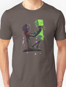 Creeper and Enderman, Minecraft Unisex T-Shirt