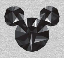 Black Pop Crystal One Piece - Short Sleeve