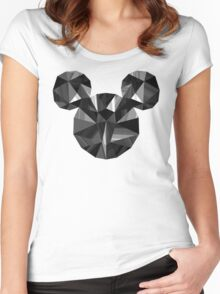 Black Pop Crystal Women's Fitted Scoop T-Shirt