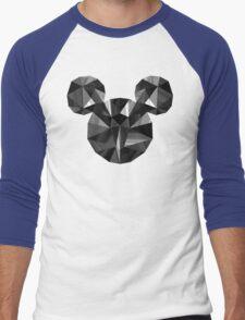 Black Pop Crystal Men's Baseball ¾ T-Shirt