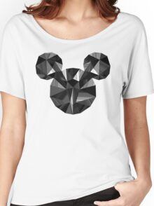 Black Pop Crystal Women's Relaxed Fit T-Shirt