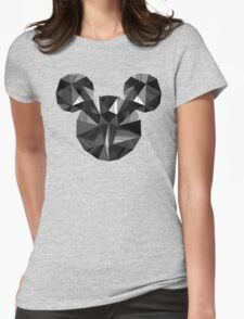 Black Pop Crystal Womens Fitted T-Shirt