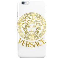 Versace gold logo iPhone Case/Skin