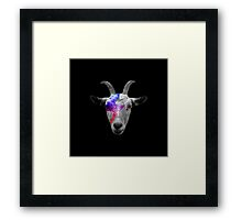 David Bowie Rocker Goat Framed Print